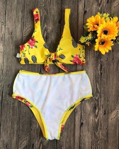 Sexy Floral Printed Bikini Swimwear