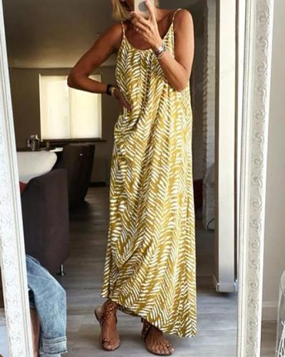 Spaghetti Graphic Print Holiday Paneled Maxi Dress