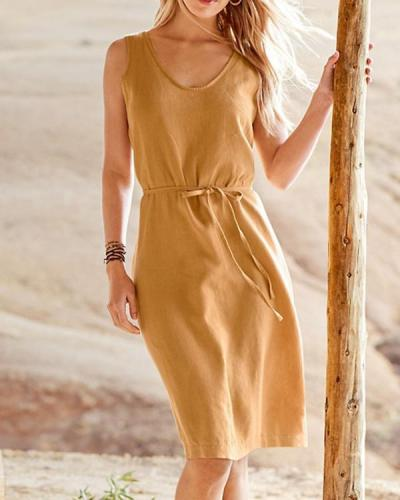 Essential Linen Tank Dress