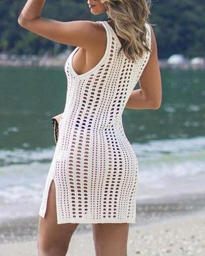 Sleeveless Beachwear Dress Crochet Summer Bikini Cover Up