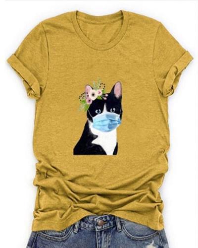 Women Printed Short Sleeves Casual T-shirts