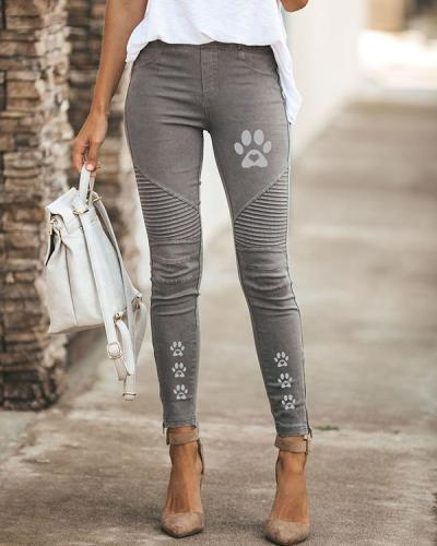 Womens Print High Waist Daily Leggings