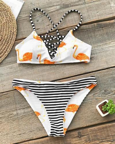 Flamingo Print Bikini