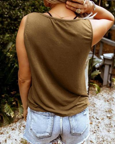 Daily Casual Sleeveless Shift Vests