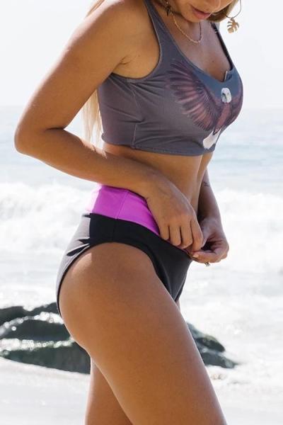 High Waist Positioning Print Bikini