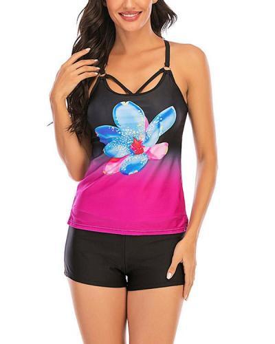Sexy Print Tankini Swimsuit