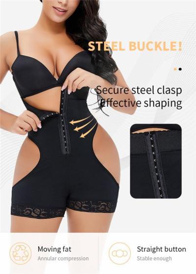 Sexy Tummy Control Butt Lifter Row Hook Bodysuit Shapewear