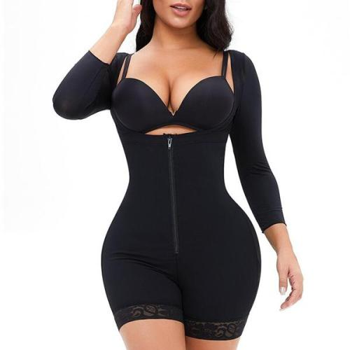 New Fashion Plus Size Long Sleeve Shapewear Bodysuit