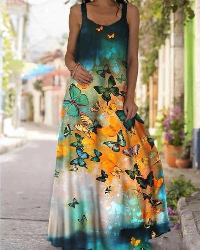Women's Sexy Print Summer Maxi Dress