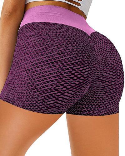 Women High Waisted Yoga Fitness Shorts