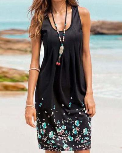Women Floral Print Holiday Dresses