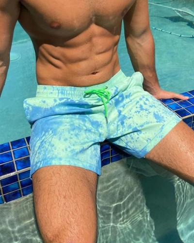 Men's Color-changing Swimming Trunks Beach Shorts