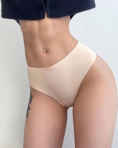Sexy Unmarked Smooth Fitness Pants Thong