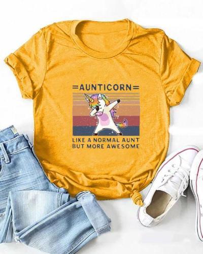 Cute Cartoon Print T-shirt Short Sleeve Tops