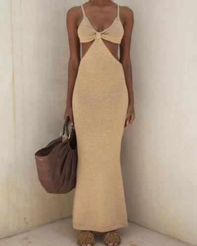 Sexy Strapless Waist Cutout Dress