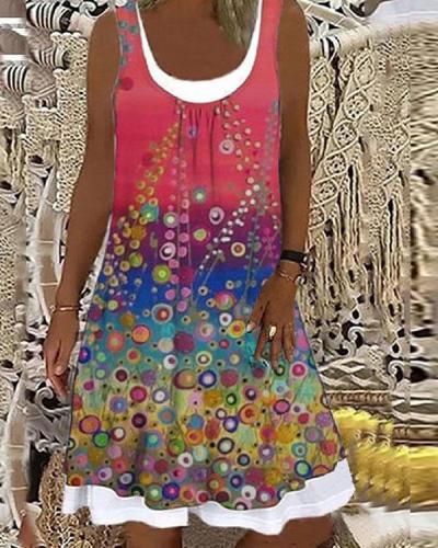 Vintage Summer Floral Patchwork Dress