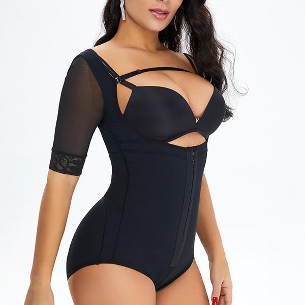 New Fashion Plus Size Butt Lifter Arm Shapewear Bodysuit
