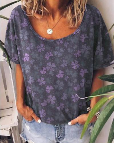 Women's Printed Summer Tops T-shirt