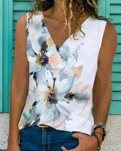 Natural Beauty Floral Print Top