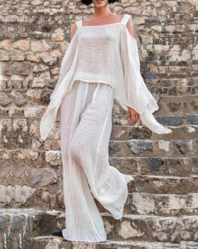 Women's Casual Linen Two Piece Suit