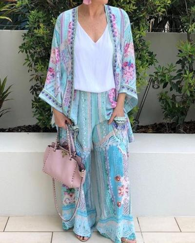 Women's Fashion Printed Casual Suit