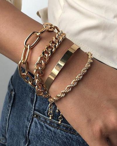 Simple 4PCS Layer Bracelets