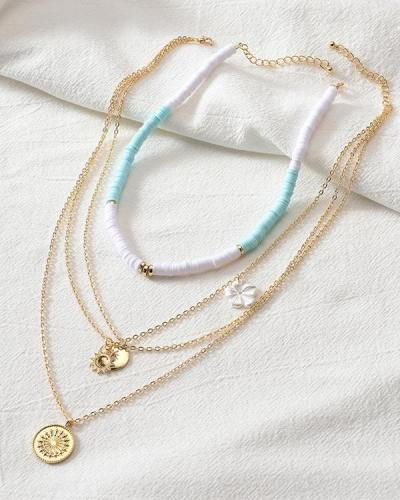 Flower Layer Necklace