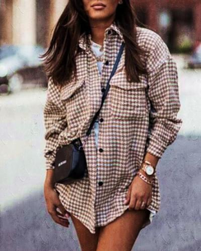 Fashion Single-breasted Lapel Cardigan Shirt