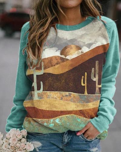 Women's Casual Print Sweatshirt