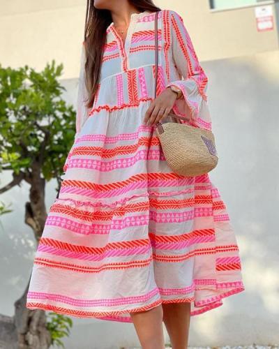Printed Loose Ladies Dress