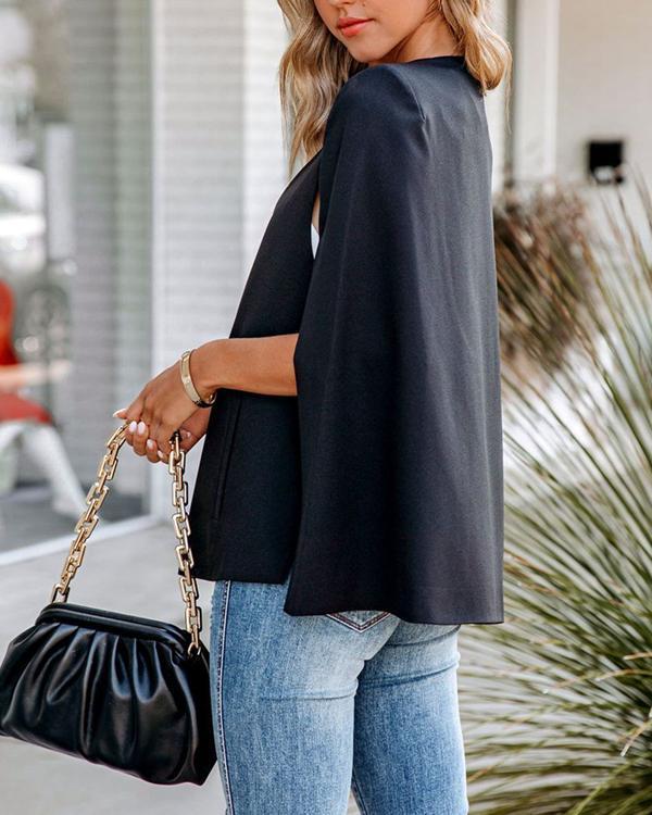 Shawl Collar Solid Classy Casual Suit Blazer