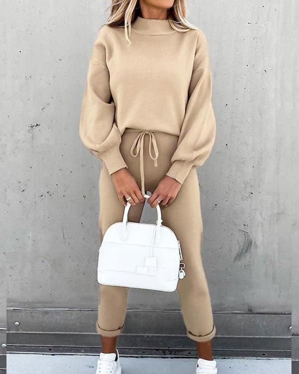 Women Fashion Casual Top & Pants Suit