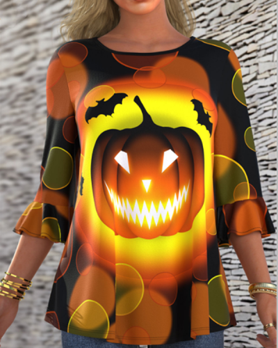 Halloween Pumpkin Half sleeve T-Shirt