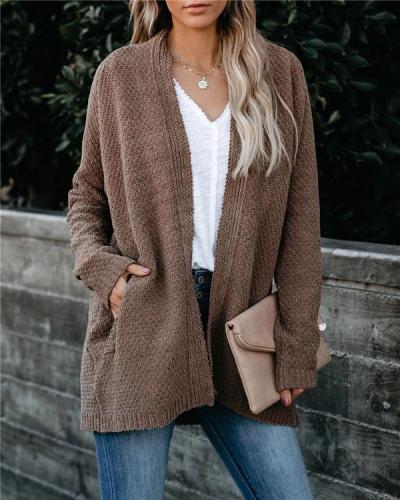 Loose Knit Cardigan Sweater Jacket