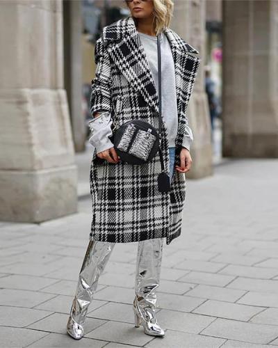 Fashion Check Hit color Coat