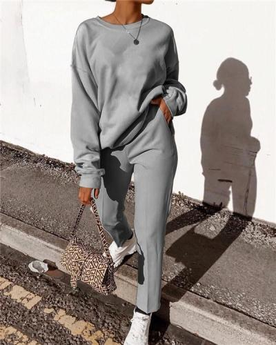 Fashion Casual Long Sleeve Suit