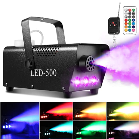 Smoke Machine Fog Machine with 13 Colorful LED Lights Effect