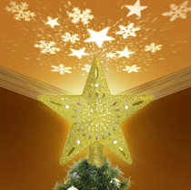 Lighted LED Christmas Tree Topper