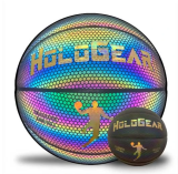 Holographic Glowing Reflective Basketball Lighted Glow Basketball Night Game