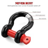 D-ring Shackle Tons Wll 9500 Lbs Heavy Duty Galvanized D Ring for Jeep Vehicle Recovery