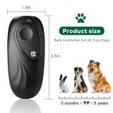Anti Barking Device 2 in 1Dog Training Aid Adjustable Frequency Ultrasonic Dog Bark Deterrent