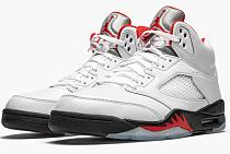 "Air Jordan 5 Retro ""Fire Red Silver Tongue 2020"""