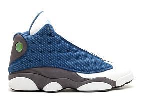 Air Jordan 13 (XIII) White Flint Blue (2014)