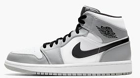 "Air Jordan 1 Mid ""Light Smoke Grey"""