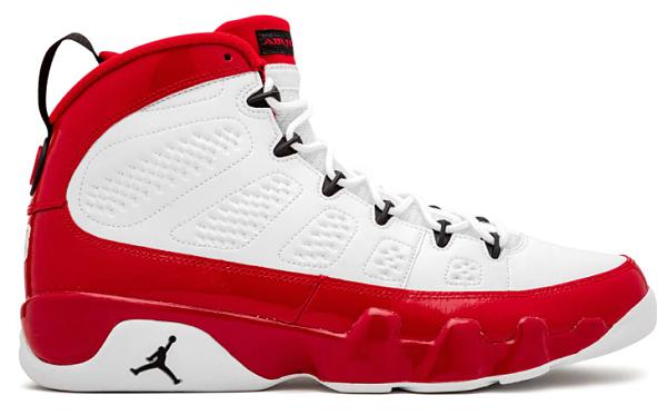 Air Jordan 9 white/red/black