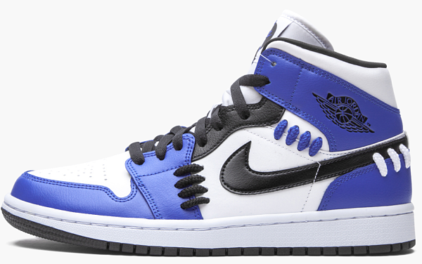 "Air Jordan 1 Mid WMNS ""Sisterhood - Game Royal"""