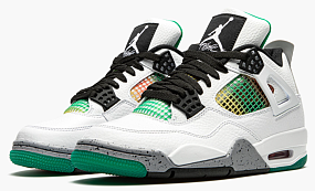 AIR JORDAN 4 RETRO WMNS RASTA - LUCID GREEN