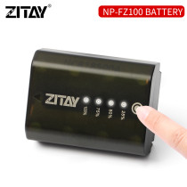 ZITAY NP-FZ100 Rechargeable Lithium-Ion Battery Touch Display Remaining Battery for Sony Alpha a9 II, a9, a7R IV, a7R III, a7 III, a6600