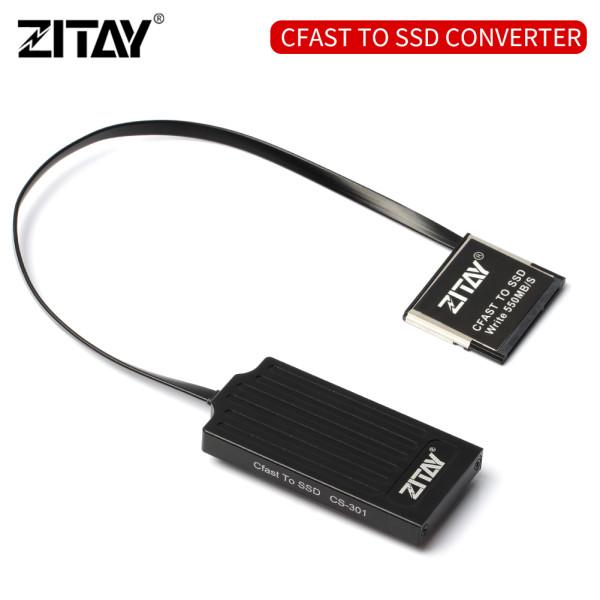 ZITAY CFast2.0 CFast Memory Card to MSATA SSD 2T Hard Drive Card Adapter Converter Cable for Canon C200 C300 XC10 EOS 1DX Mark II Blackmagic URSA Mini EF Z CAM E2 BMD BMPCC 4K