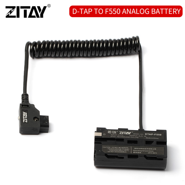 ZITAY D-tap to F55 Dummy Battery for  Sony NP F970, F750, F770, F960, F550, F530, F330, F570, CCD-SC55, TR516, TR716, TR818, TR910, TR917